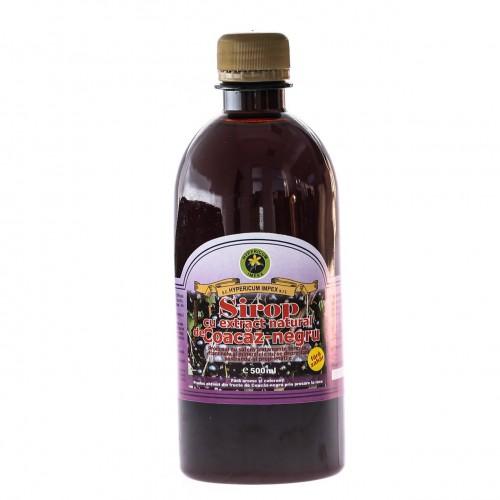 Sirop cu Extract Natural de Coacaz-Negru 500ml HYPERICUM
