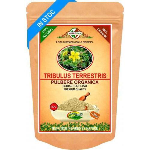 Tribulus Terrestris Pulbere Organica 125gr NUTRAMAX
