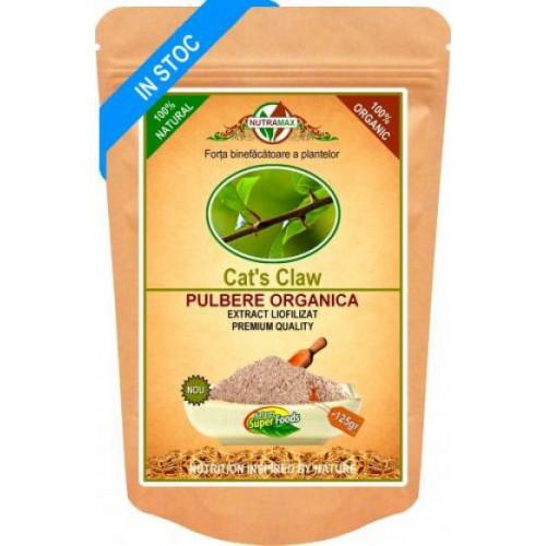 Cat's Claw (Gheara Matei) Pulbere Organica 125 gr NUTRAMAX