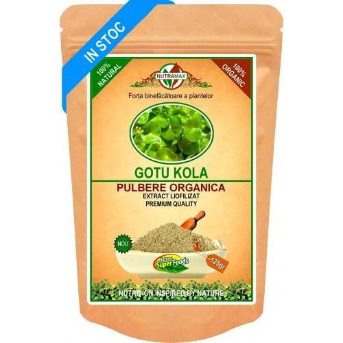Gotu Kola Pulbere Organica 125gr NUTRAMAX