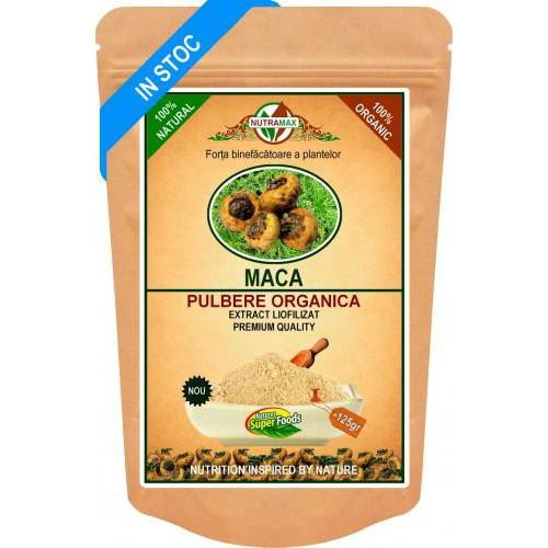 Maca Root Pulbere Organica 125gr NUTRAMAX