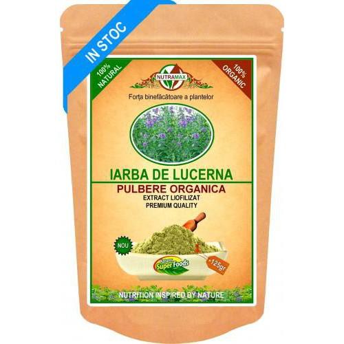 Iarba de Lucerna Pulbere Organica 125gr NUTRAMAX
