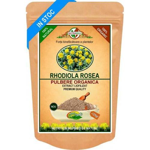 Rhodiola Rosea Pulbere Organica 125 gr NUTRAMAX