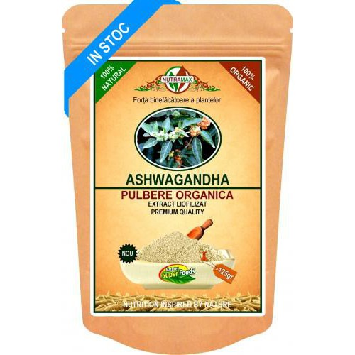 Ashwagandha Pulbere Organica 125gr NUTRAMAX