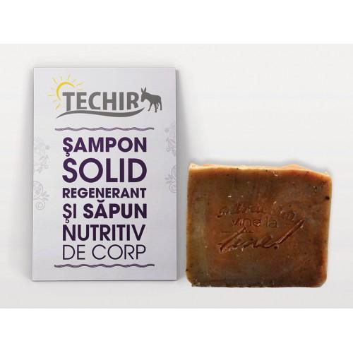 Sampon Solid Regenerant si Sapun Nutritiv de Corp 100g TECHIR