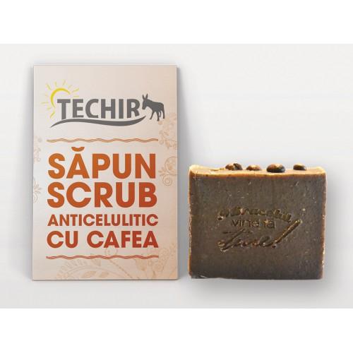 Sapun Scrub Anticelulitic cu Cafea 100g TECHIR