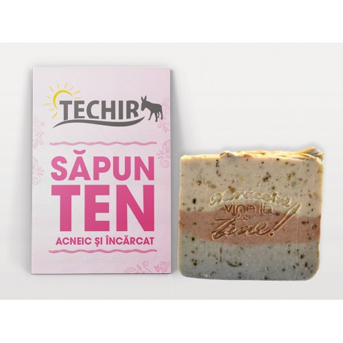 Sapun Ten Acneic si Incarcat 100g TECHIR