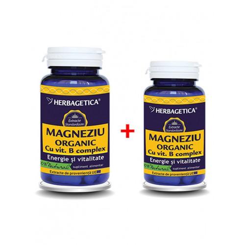 Magneziu Organic 60+10 cps Herbagetica
