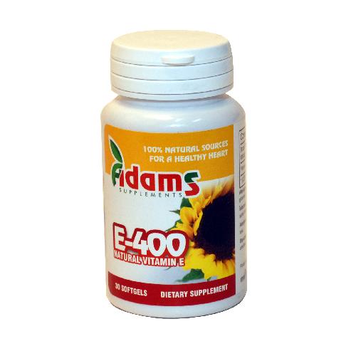 Vitamina E-400 naturala 30 cps ADAMS VISION