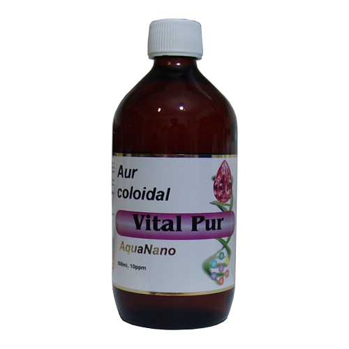 Aur Coloidal Vital-Pur 10 ppm 500 ml AGHORAS
