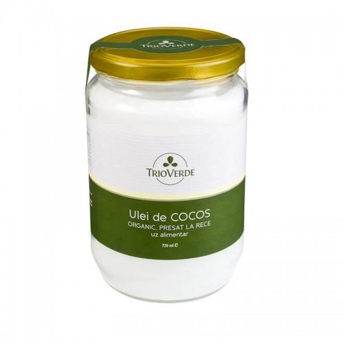 Ulei de Cocos Organic Virgin 720 ml TRIO VERDE