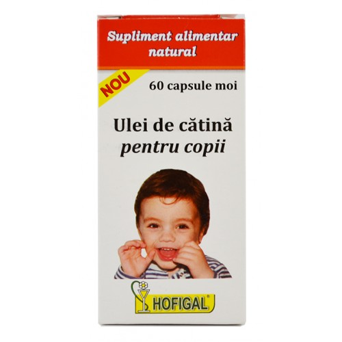 Ulei de catina pentru copii 300 mg 60 cps HOFIGAL
