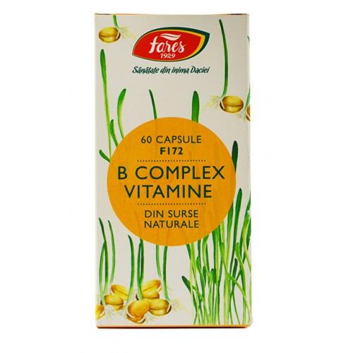 B Complex Vitamine Naturale F172 60 cps FARES