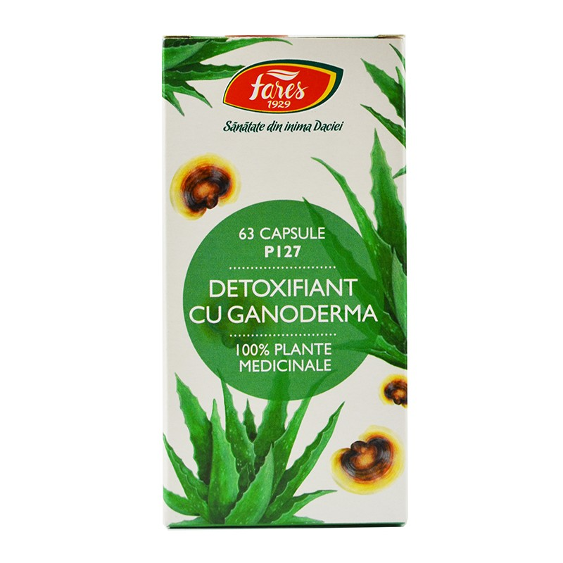 Detoxifiant cu ganoderma P127 63 cps FARES