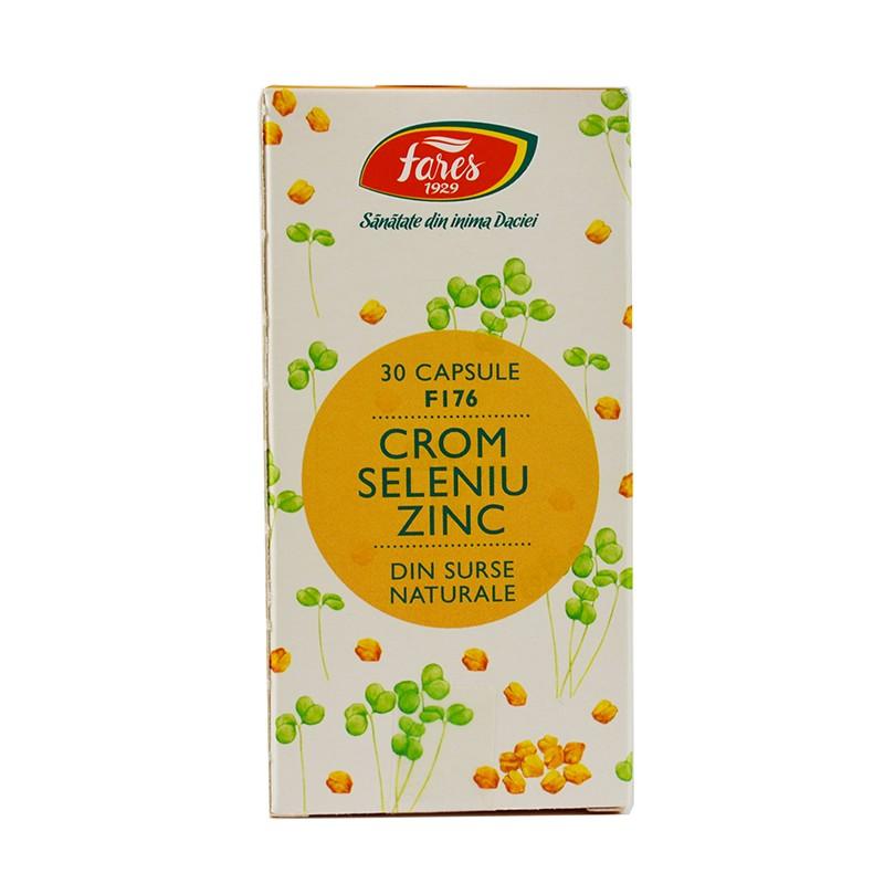 Crom Seleniu Zinc F176 30 cps FARES
