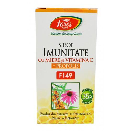 Imunitate cu miere si propolis F149 100 ml sirop FARES
