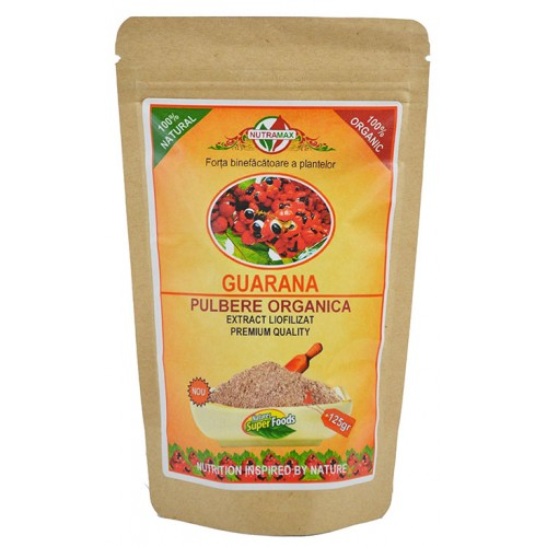 Guarana Pulbere Organica 125gr NUTRAMAX