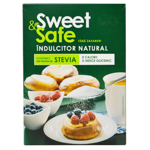 Indulcitor Natural din Stevia 350G Sweet & Safe