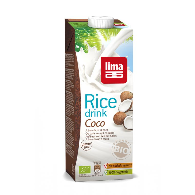 Bautura vegetala din orez cu cocos 1 litru Lima