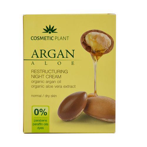 Crema Restructuranta de Noapte cu Ulei de Argan Bio si Extract Bio de Aloe Vera 50ml COSMETIC PLANT