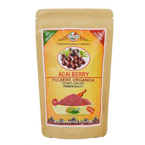 Acai Berry Pulbere Organica 125gr NUTRAMAX