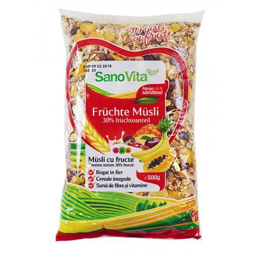 Musli cu fructe 500 g SanoVita