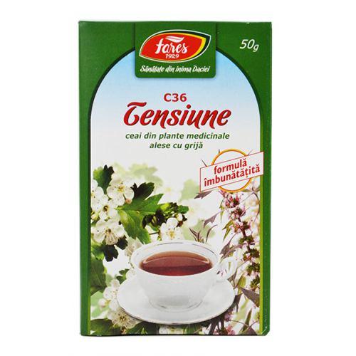Ceai Tensiune - Hipertensiune (C36) 50g FARES