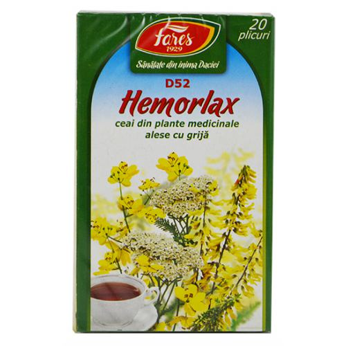 Ceai Hemorlax (D52) 20dz FARES