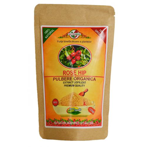 Rose Hip Pulbere Organica 125 GR Nutramax