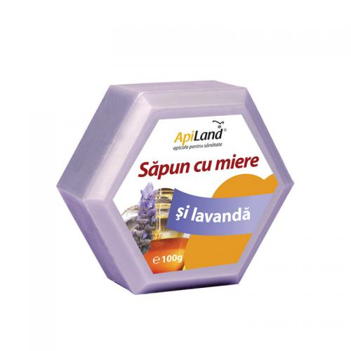 Sapun cu miere si lavanda 100G APILAND