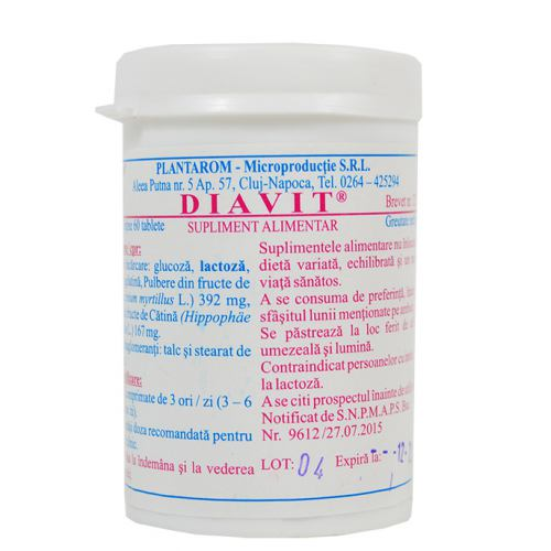DIAVIT 60 tablete PLANTAROM