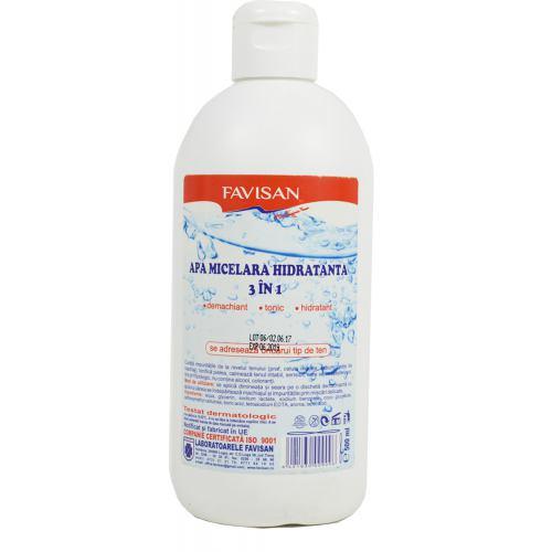 Apa micelara hidratanta 3 in 1 500ML FAVISAN