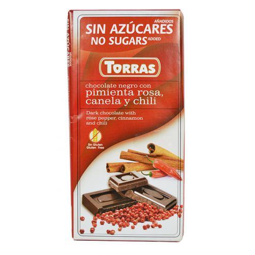 Ciocolata cu chili si scortisoara 75G TORRAS