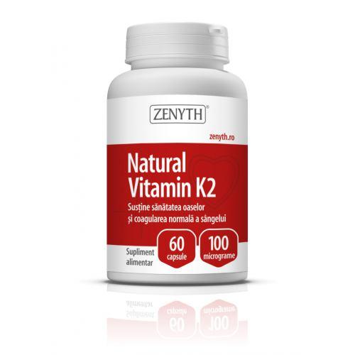 Natural Vitamin K2 100micrograme 60CPS ZENYTH