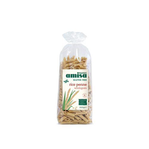 Penne din orez integral fara gluten 500G AMISA