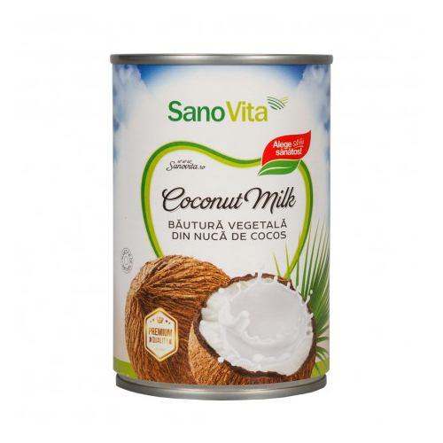 Lapte vegetal de cocos 400ML SANOVITA