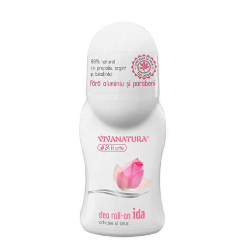 Deodorant roll on IDA orhidee si lotus 50ML VIVANATURA