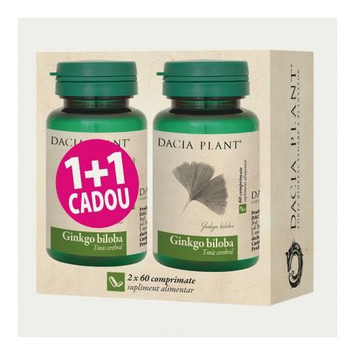 Ginkgo Biloba 60 cpr 1+1 Cadou DACIA PLANT