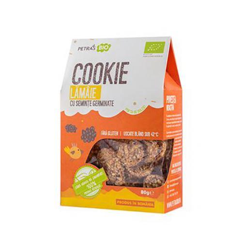 Cookie eco cu lamaie si seminte germinate 80G PETRAS BIO
