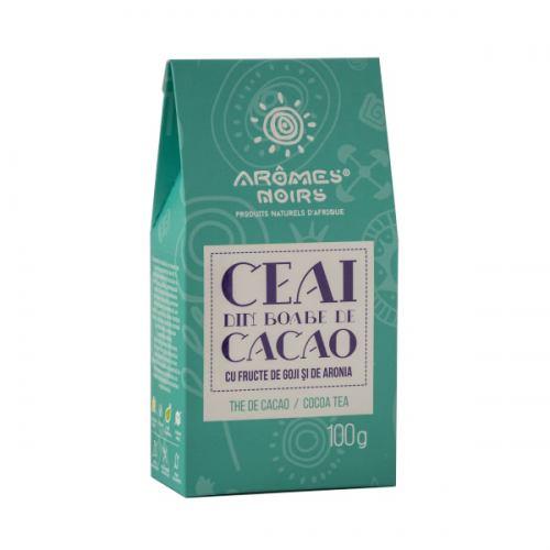 Ceai din boabe de cacao cu fructe de goji si aronia 100G AROMES NOIRS