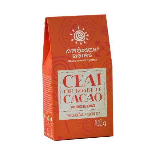 Ceai din boabe de cacaocu frunze de rooiboos 100G AROMES NOIRS
