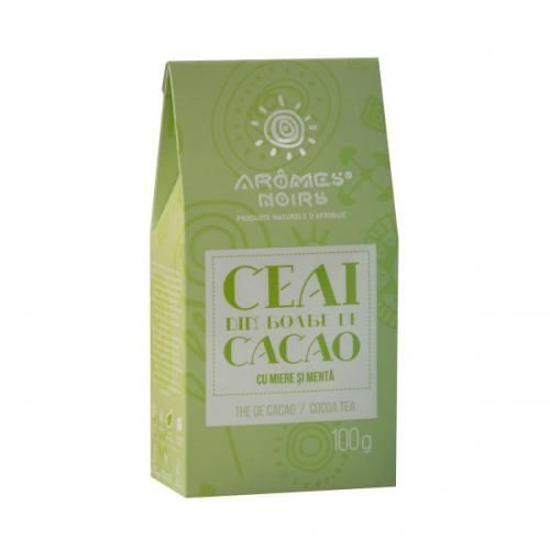 Ceai din boabe de cacao cu miere si menta 100G AROMES NOIRS