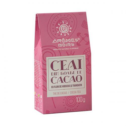 Ceai din boabe de cacao cu flori de trandafir si hibiscus 100G AROMES NOIRS