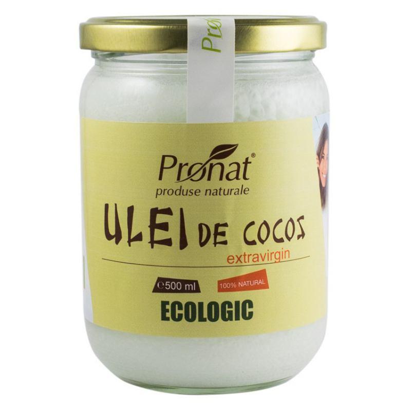 Ulei de cocos bio extravirgin 500ML PRONAT