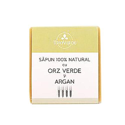 Sapun natural cu orz verde si argan 110G TRIO VERDE