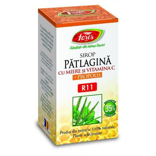Patlagina miere si propolis sirop R11 100 ml FARES