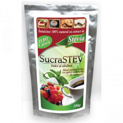 Indulcitor natural cu extract de stevia 200G SUCRASTEV