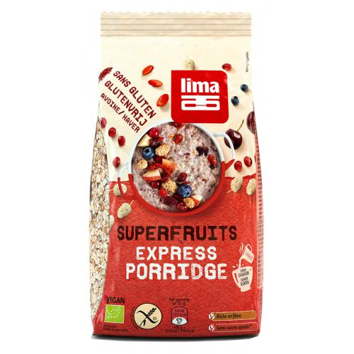 Porridge Express fara gluten cu superfructe bio 350G LIMA