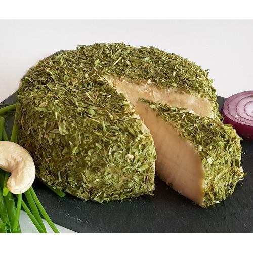 Branza vegana eco maturata cu ceapa si chives 150G RAWCKERS