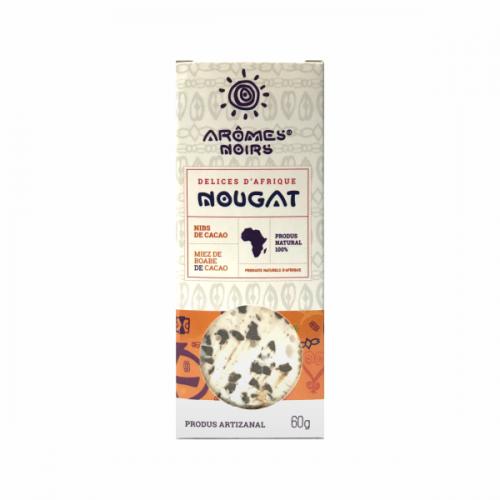 Nougat cu miez de boabe de cacao 60G AROMES NOIRS